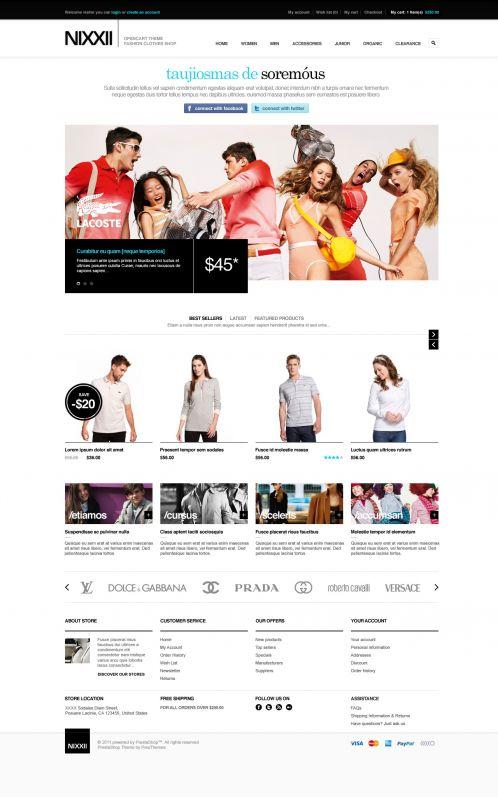 Fashion OpenCart Theme - BossThemes Nixx - Home