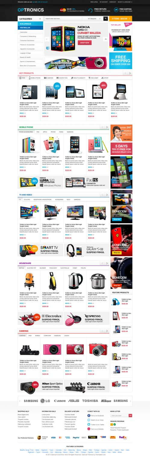 Boss Optronics - OpenCart Theme - Home