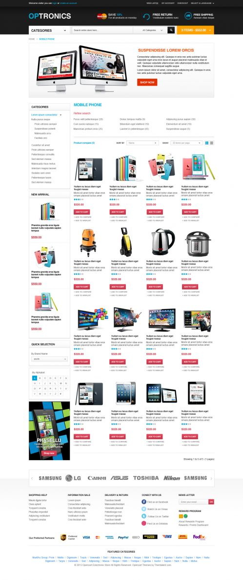 Boss Optronics - OpenCart Theme - Category Grid