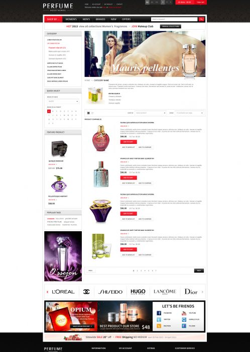Bossthemes Perfume - Category List