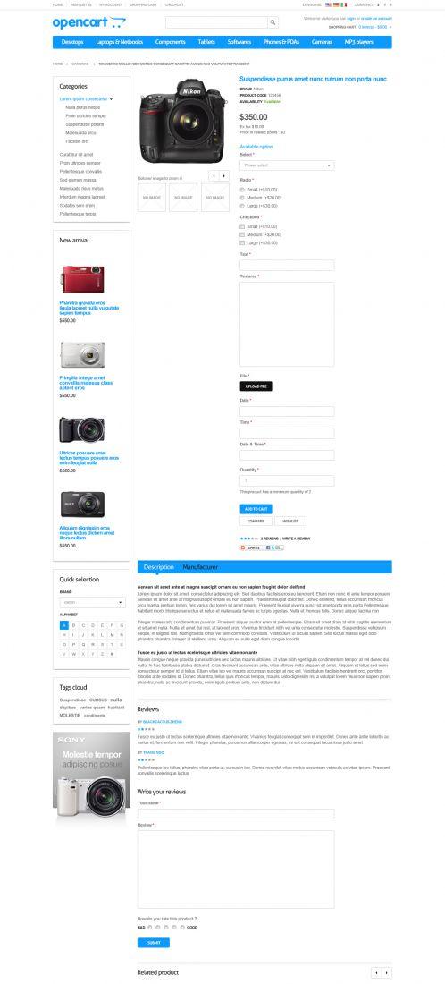 Responsive Default OpenCart Theme - Product Details