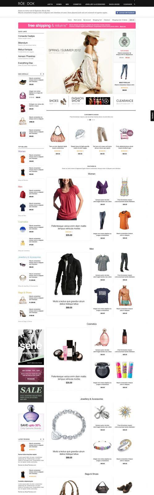 Fashion OpenCart Theme - BossThemes RoeDok - Home