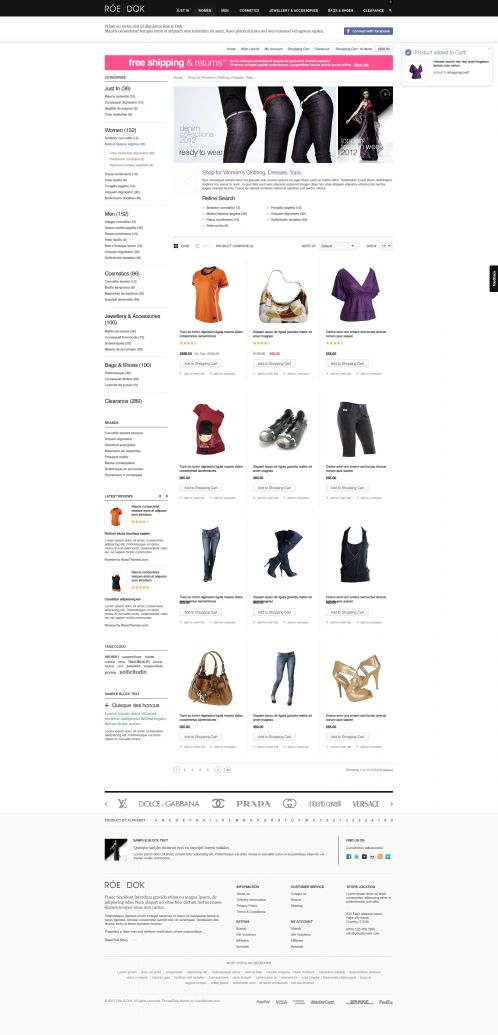 Fashion OpenCart Theme - BossThemes RoeDok - Category Grid