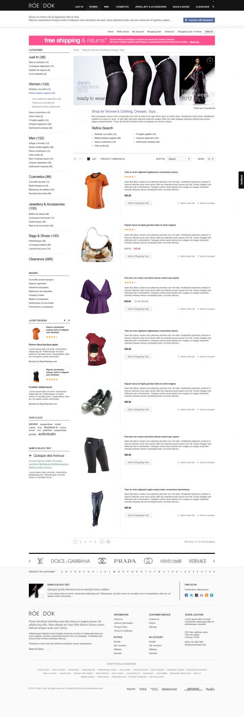 Fashion OpenCart Theme - BossThemes RoeDok - Category List