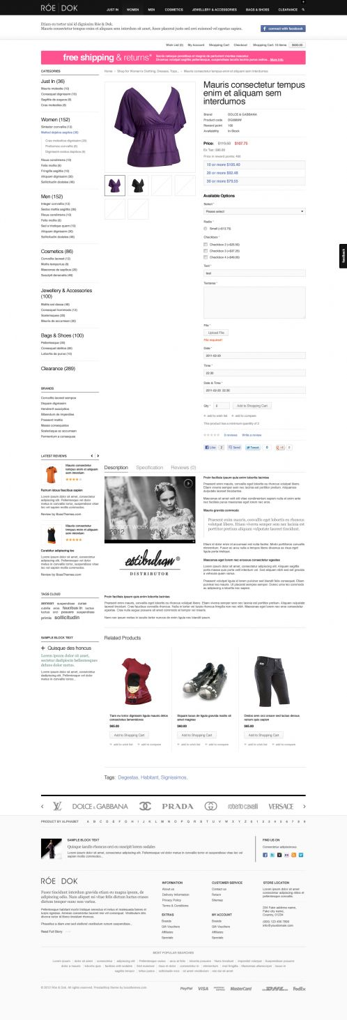Fashion OpenCart Theme - BossThemes RoeDok - Product Details