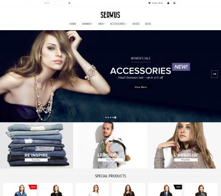 Serwus 2 - Fashion Responsive OpenCart Theme