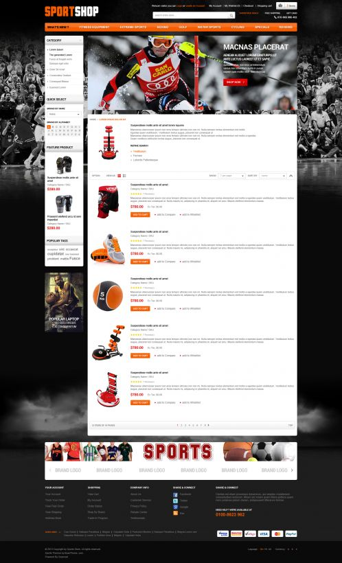 Bossthemes SportStore - Category List
