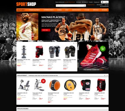 Sports Responsive OpenCart Theme - SportStore