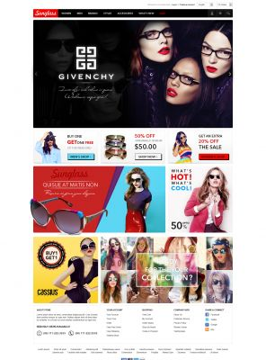 Sunglasses OpenCart Theme