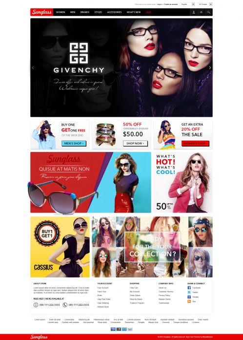 Boss Sunglasses OpenCart Theme - Home