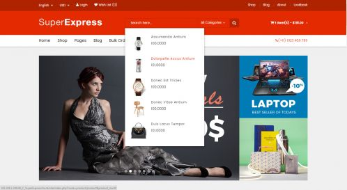 Bossthemes SuperExpress - Ajax Search