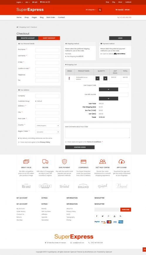 Bossthemes SuperExpress - OnePage Checkout