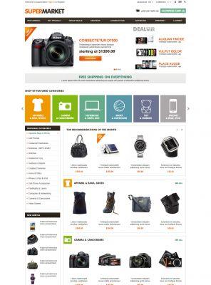 OpenCart SuperMarket Theme