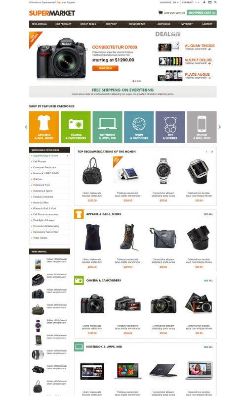 Big Shop Opencart Theme Nulled. invasion Primary Escalon Maestra Housing