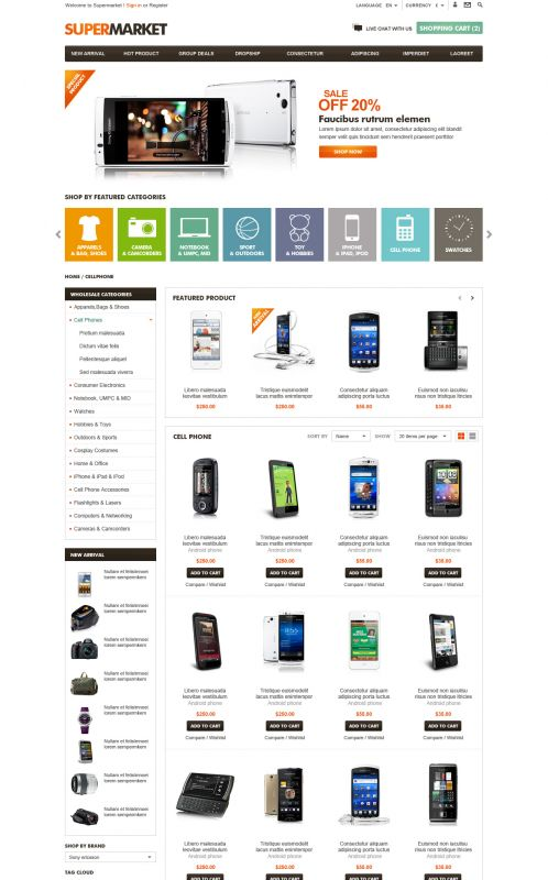 BossThemes SuperMarket - OpenCart SuperMarket Theme - Category Grid