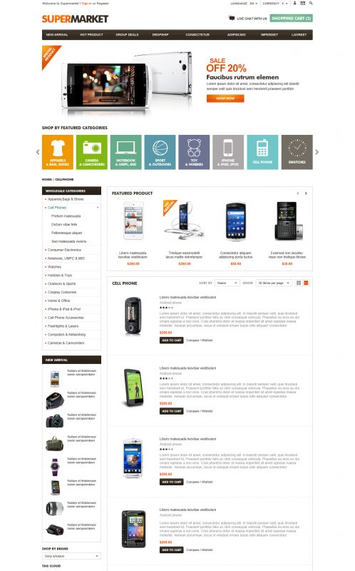 BossThemes SuperMarket - OpenCart SuperMarket Theme - Category List