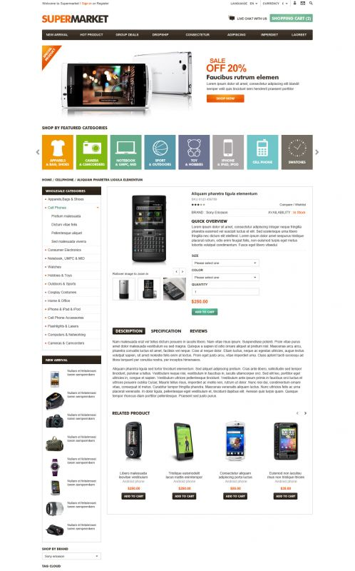 BossThemes SuperMarket - OpenCart SuperMarket Theme - Product Details