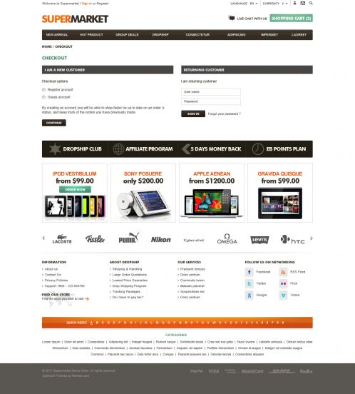 BossThemes SuperMarket - OpenCart SuperMarket Theme - Checkout
