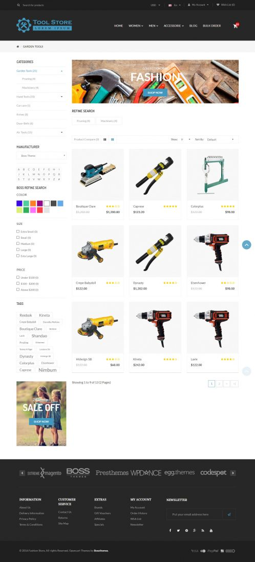 Bossthemes ToolStore - Category Grid