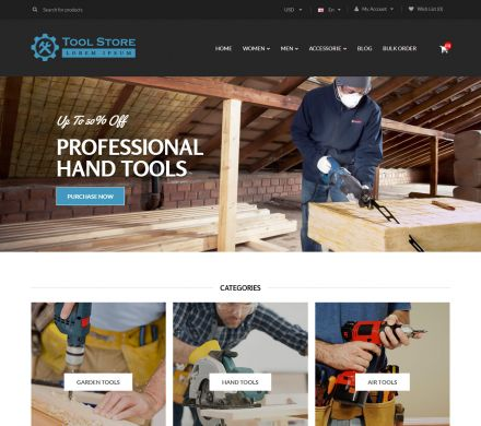 Furniture, Tool & Hardware Responsive OpenCart Theme