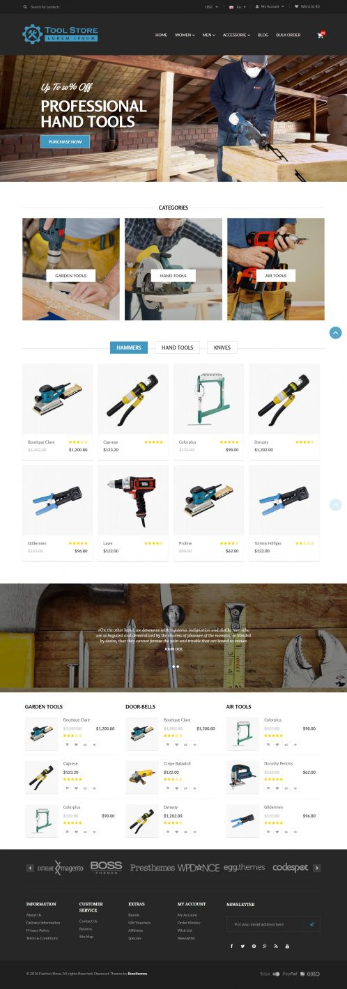 Bossthemes ToolStore - Home