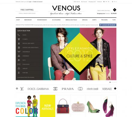 Apparel Responsive OpenCart Theme - Venous
