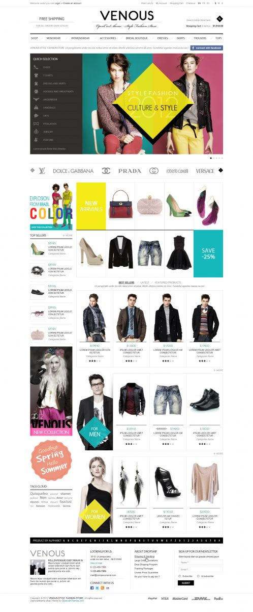 Apparel Responsive OpenCart Theme -Venous - Home