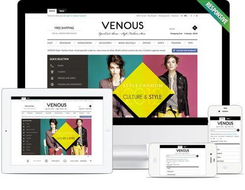 Apparel Responsive OpenCart Theme -Venous - Responsive