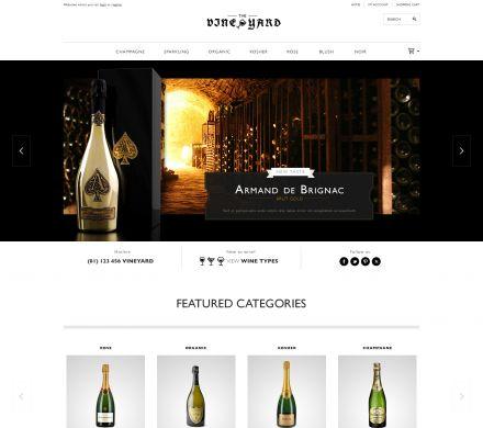 Responisve Opencart Wine & Spirits Store - VineYard