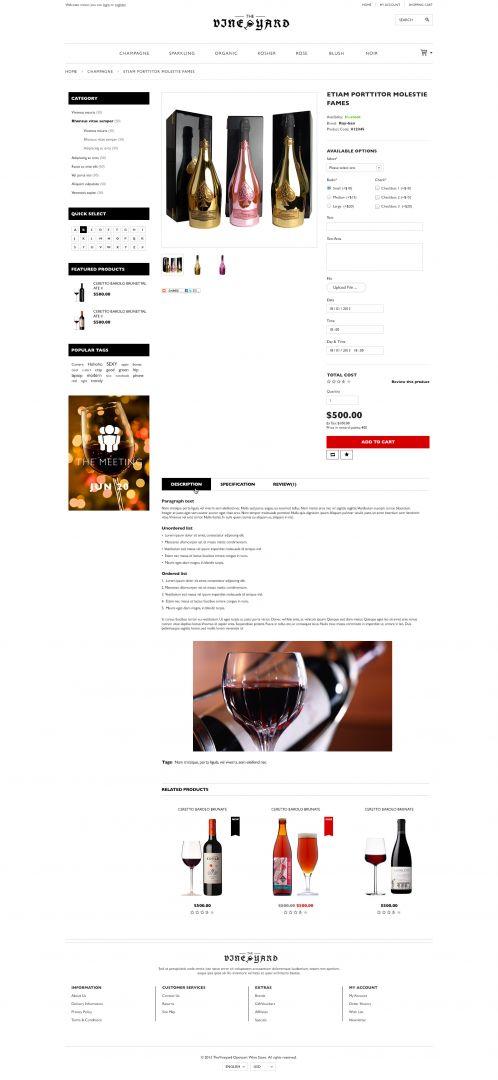 Bossthemes VineYard - Product