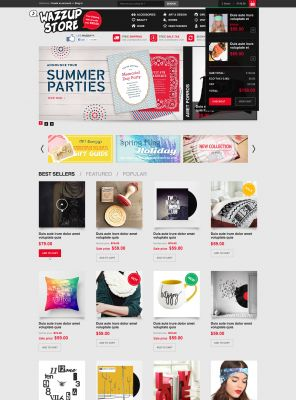 Responsive OpenCart Theme - Wazzup