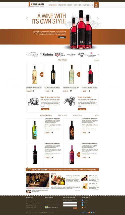 Wine House Responsive OpenCart Theme - Home Orange
