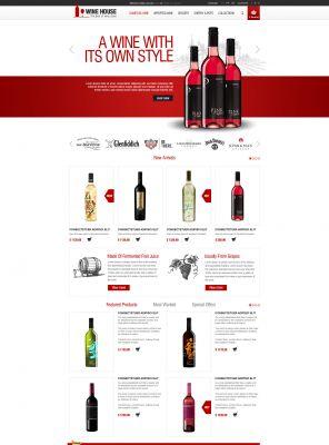 Responsive OpenCart Theme - Wine House