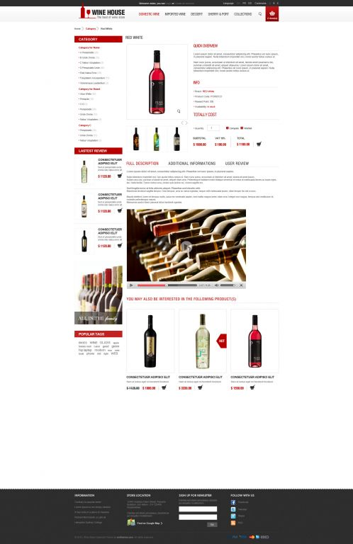 Wine House Responsive OpenCart Theme - Product Details
