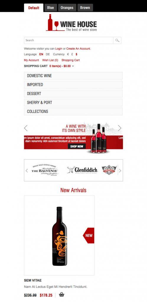 Wine House Responsive OpenCart Theme - Mobile