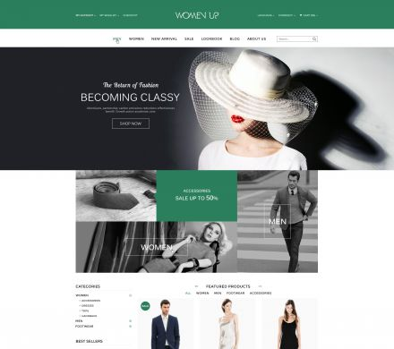 OpenCart Women Fashion Shopping Theme - WomenUp