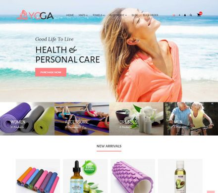 Bio, Medical & Well-being Yoga Responsive Opencart Theme