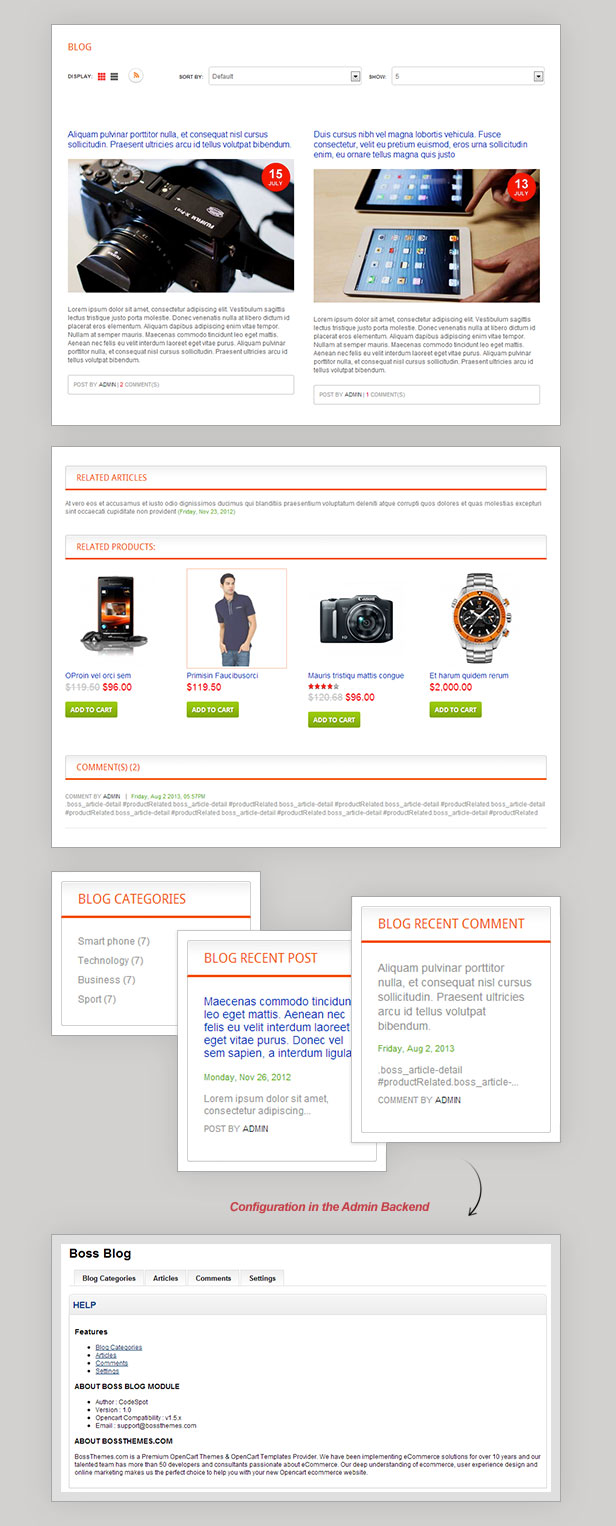 Responsive OpenCart Theme - Boss Electronues